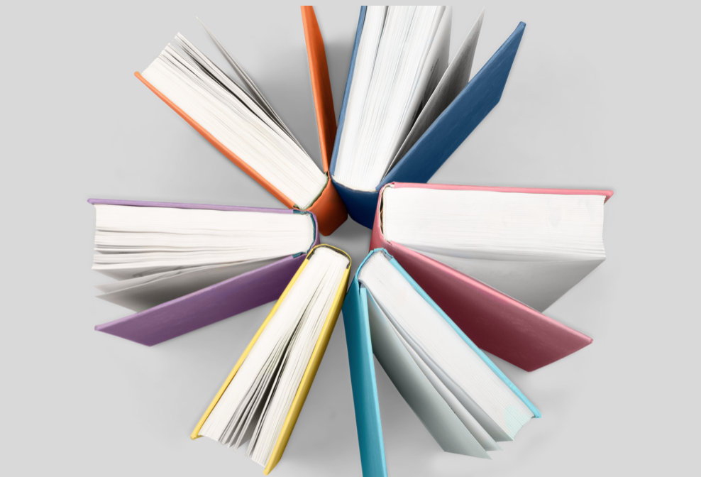 Bücher im Kreis